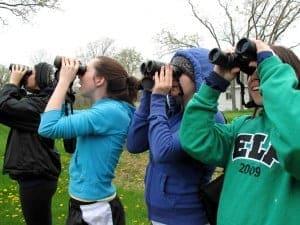 ELP students birdwatching