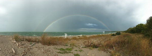 Double rainbow at Fish Point by P Kramer 2017
