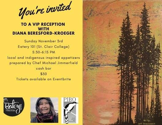 VIP Reception with Diana Beresford-Kroeger