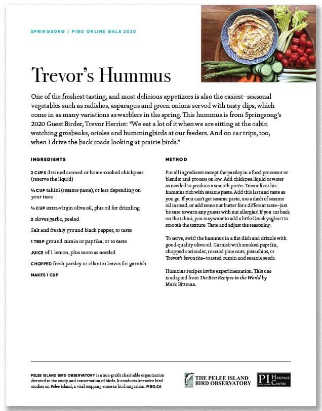 Trevor's Hummus
