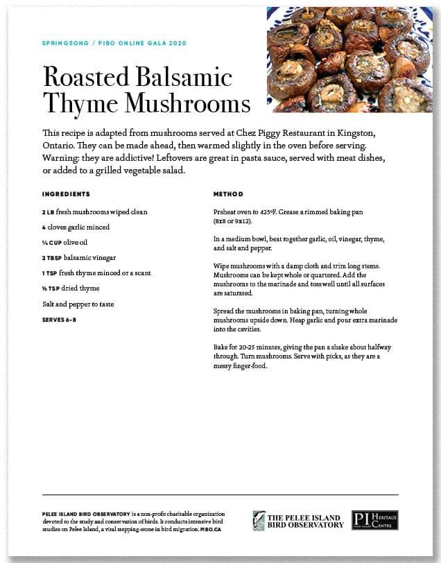 Roasted Basalmic Thyme Mushrooms
