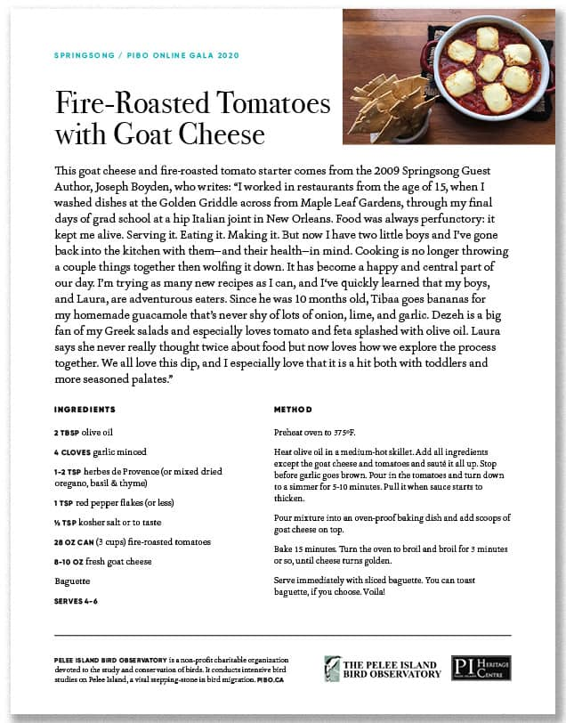 Fire-Roasted Tomatoes with Goat Cheese