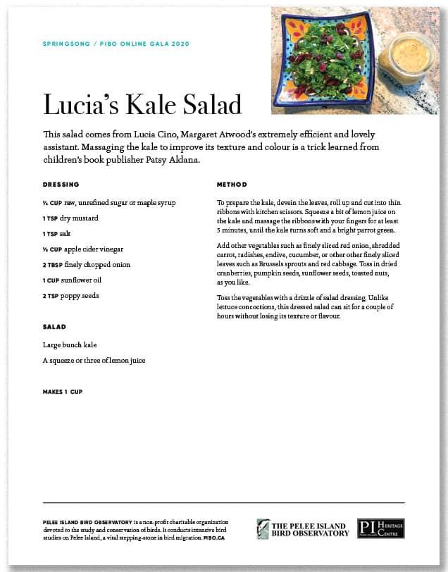 Lucia's kale Salad