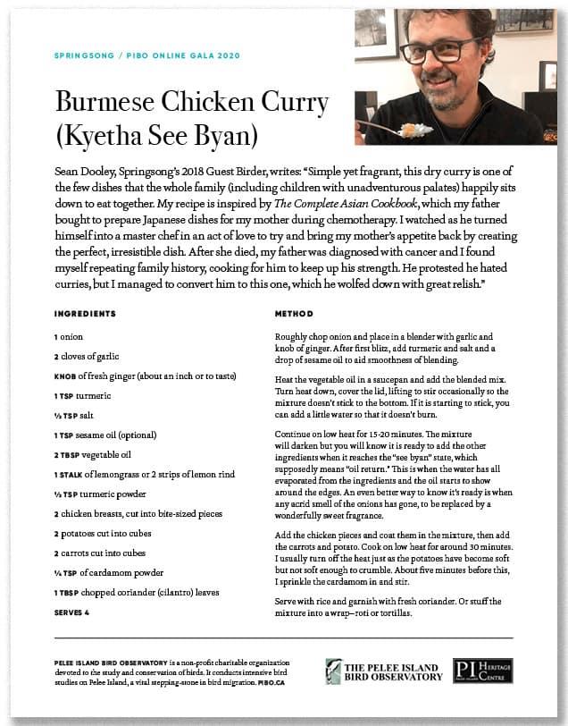 Burmese Chicken Curry