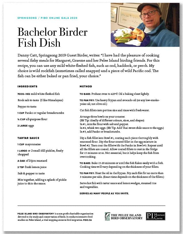 Bachelor Birder Fish Dish