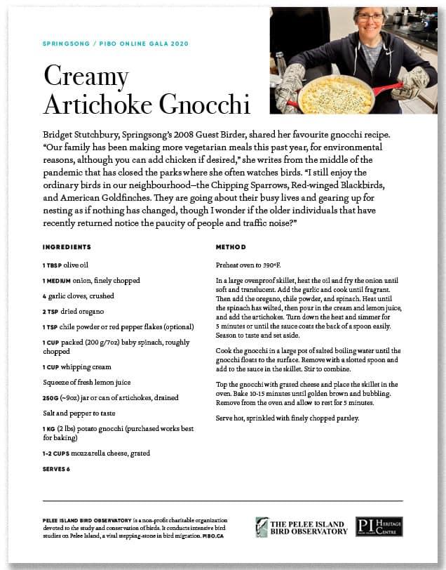 Creamy Artichoke Gnocchi