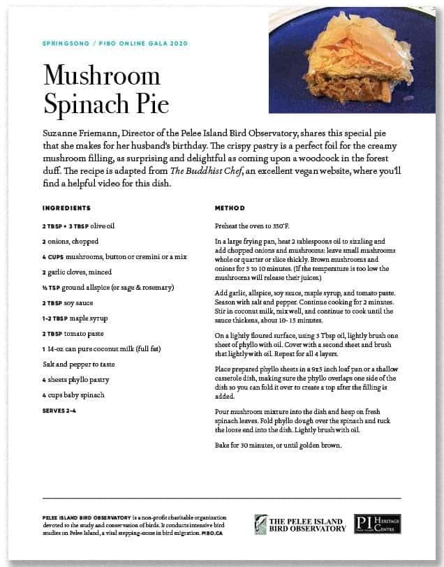 Mushroom Spinach Pie