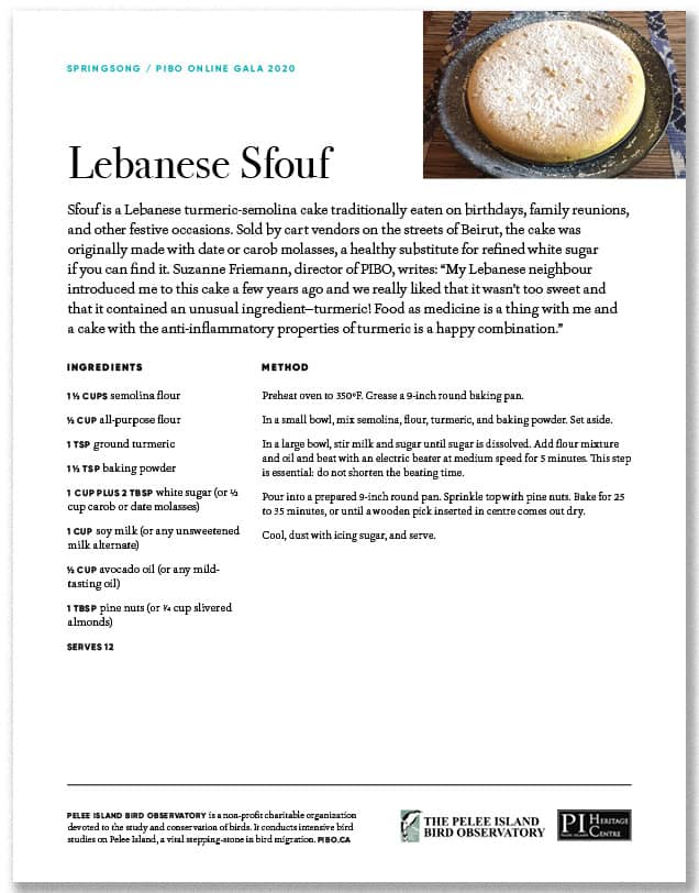 Lebanese Sfouf