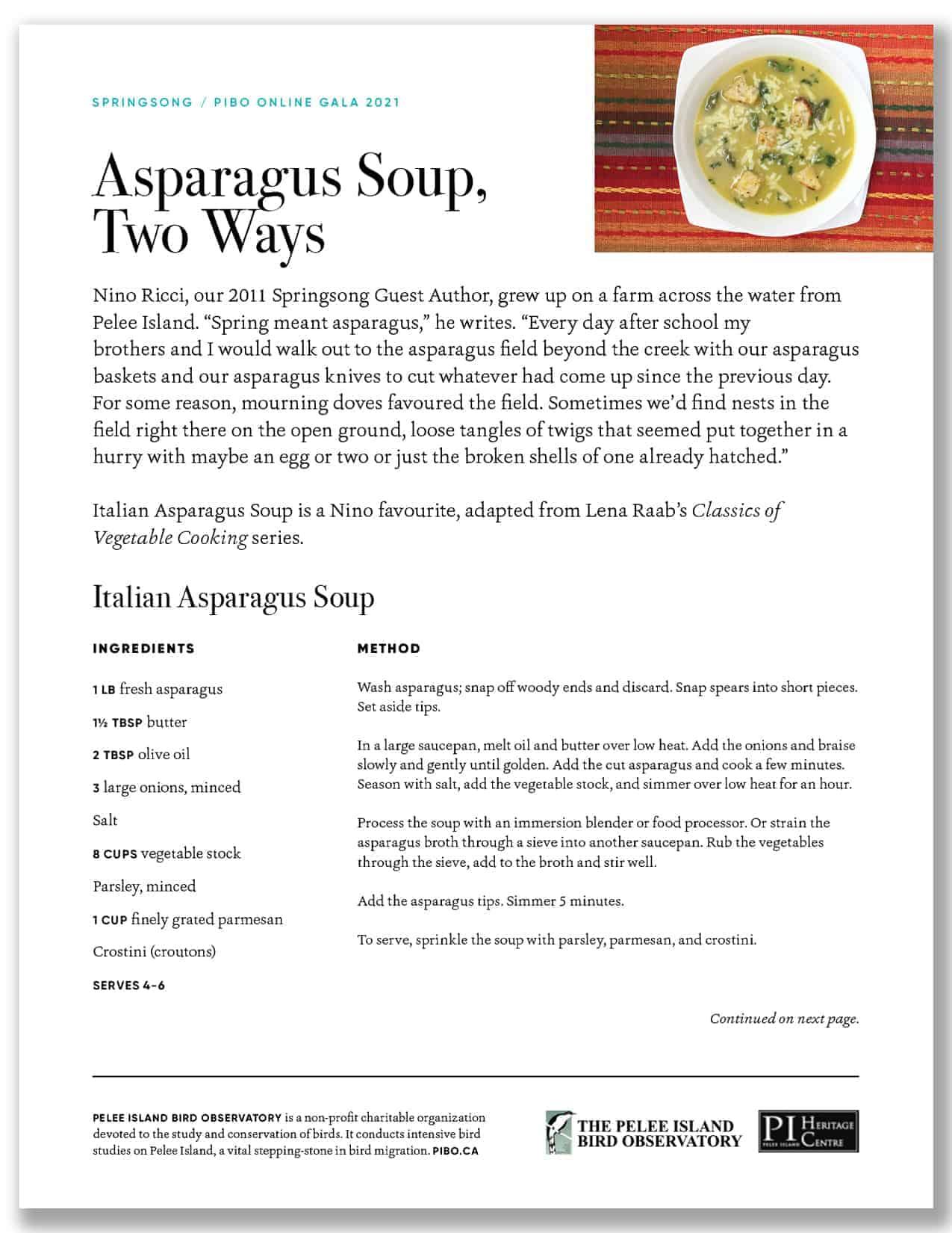 Asparagus Soup Two Ways