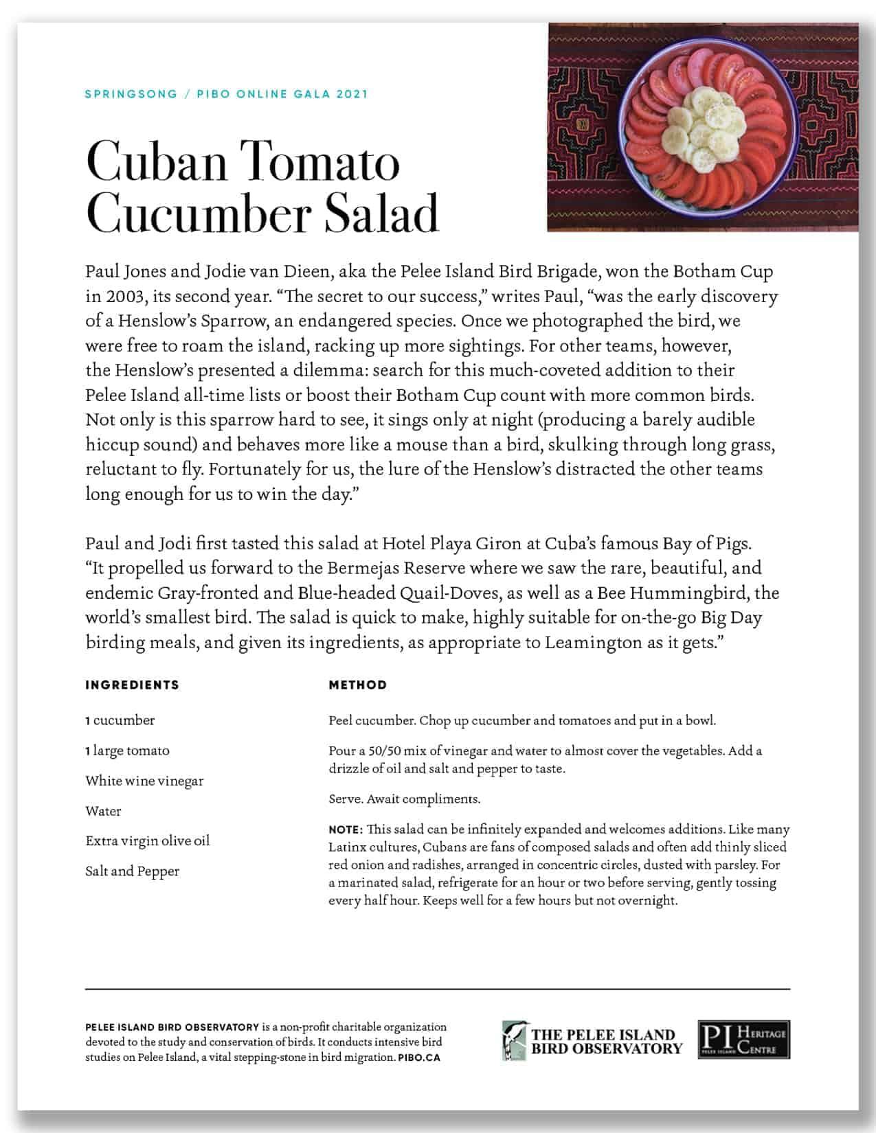Cuban Cucumber Salad
